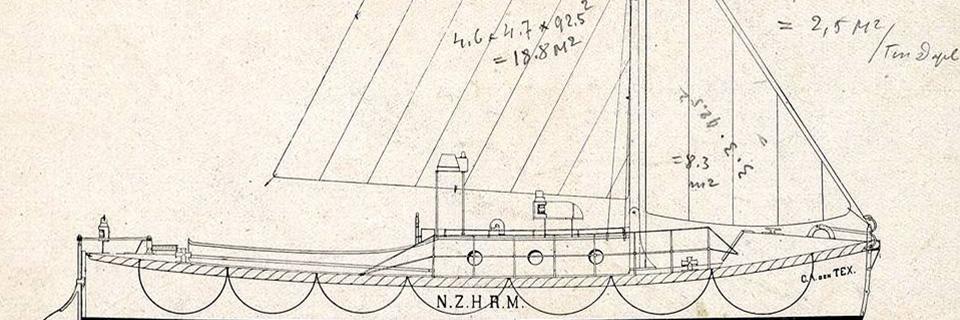 De bouwtekening van de reddingboot