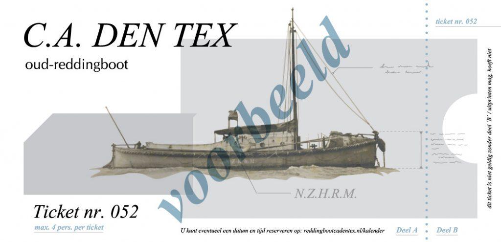 Een ticket om mee te varen met de C.A. den Tex